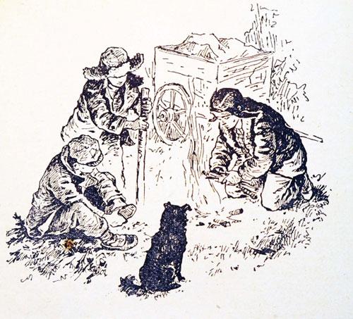 Тайна Золотой долины. Иллюстрация из книги